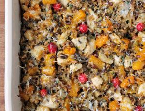 Chicken and Squash Wild Rice Casserole