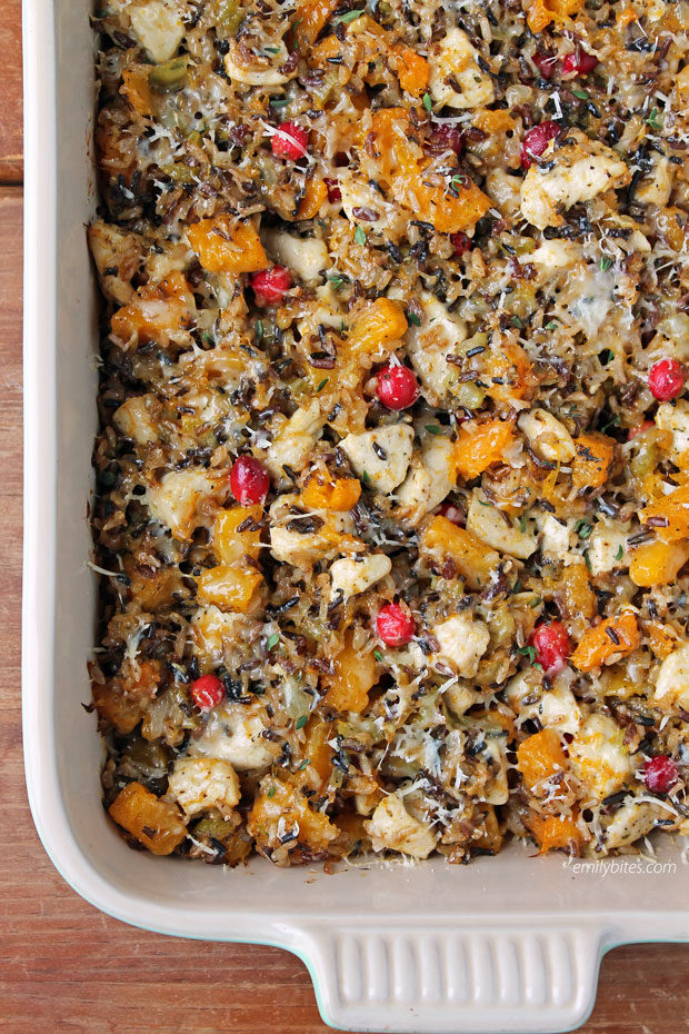 Chicken and Squash Wild Rice Casserole