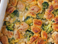Bubble Up Cheesy Chicken and Broccoli Bake