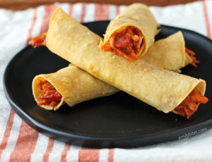 Cheesy Bacon BBQ Chicken Taquitos