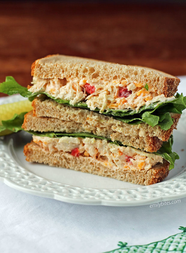 Pimento Cheese Chicken Salad Sandwiches