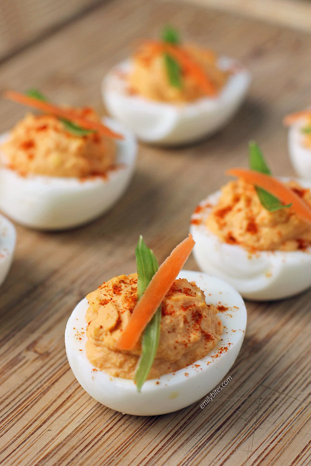 Buffalo Deviled Egg close up
