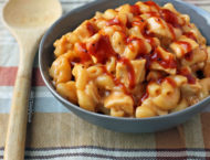One-Pot Barbecue Chicken Mac and Cheese in a bowl