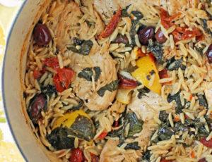 One-Pot Mediterranean Chicken with Orzo