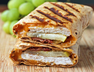 Chicken Bacon Apple Cheddar Wraps