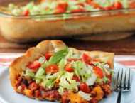 Deep Dish Taco Casserole piece