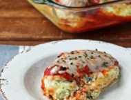 Ricotta Stuffed Chicken Bake on a plate