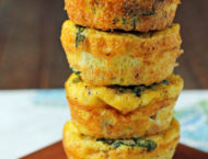 Turkey Sausage Mini Frittatas stack