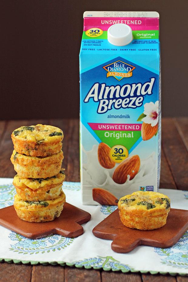 Turkey Sausage Mini Frittatas with Almond Breeze