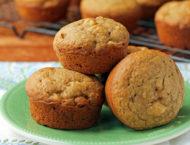 Apple Cinnamon Muffins on a plate