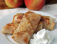 Apple Pie Egg Rolls on a plate