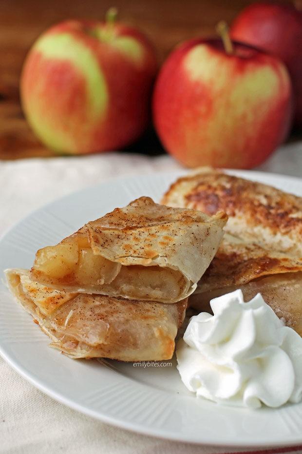 Apple Pie Egg Rolls cut open