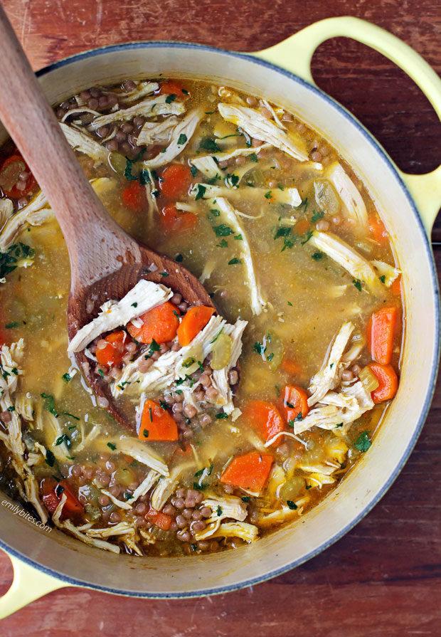 Chicken Noodle Soup in a pot