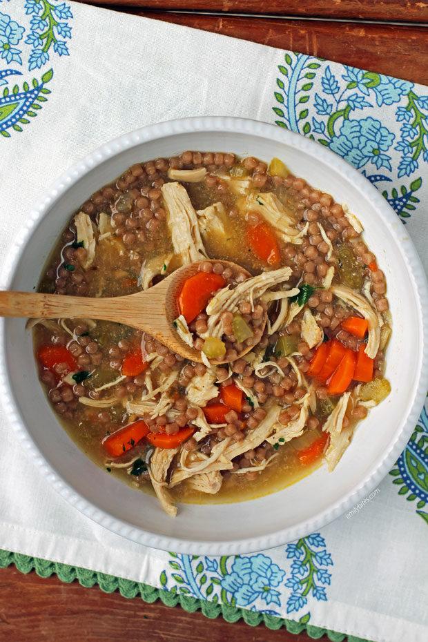 Chicken Noodle Soup with couscous