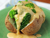 Broccoli Cheddar Stuffed Baked Potatoes