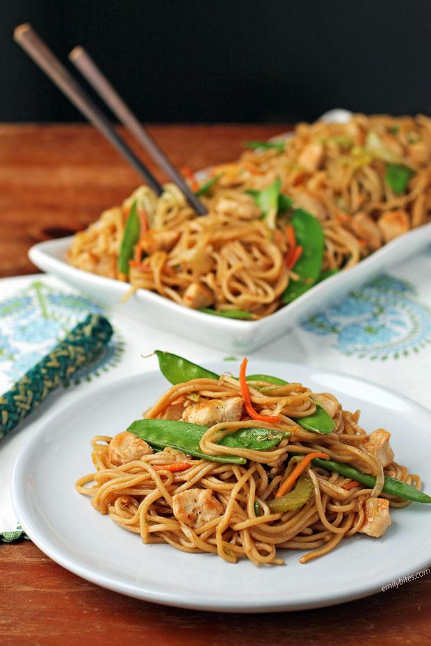 Chicken Lo Mein serving