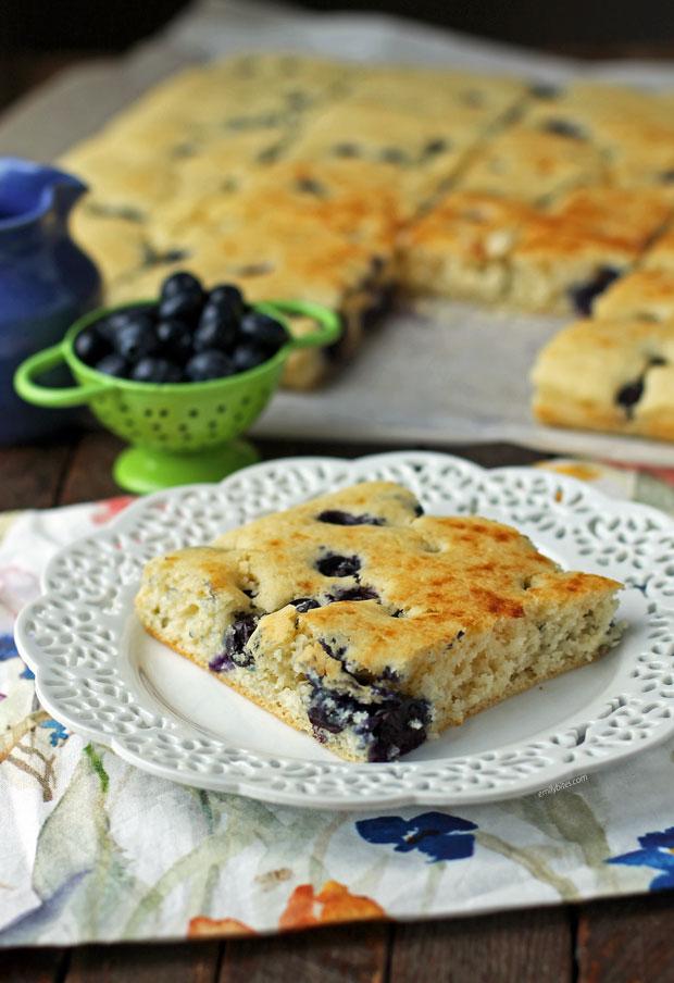 Sheet Pan Blueberry Pancakes piece