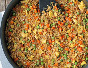 Vegetable Fried Rice in a pan