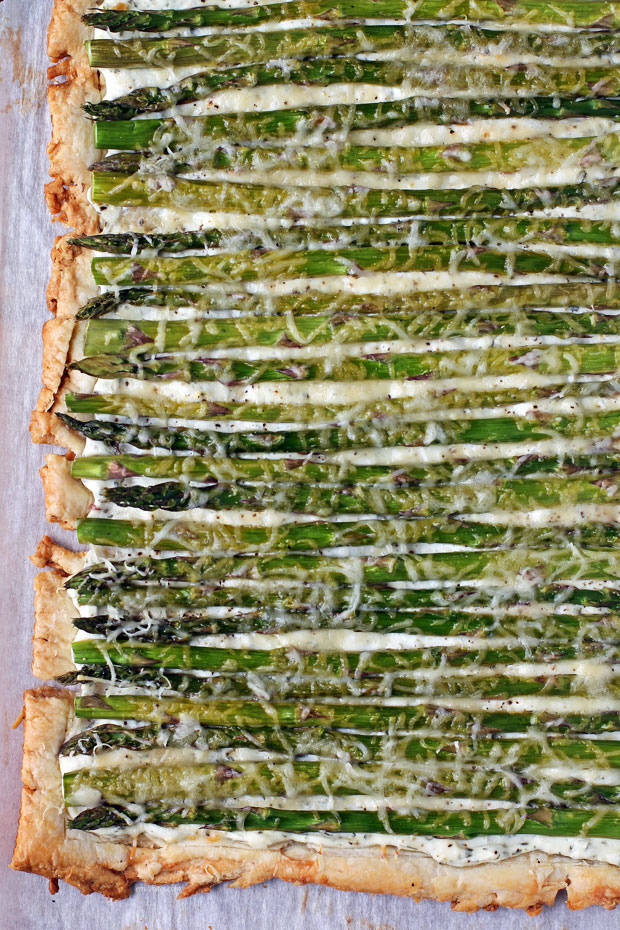 Asparagus Tart from above