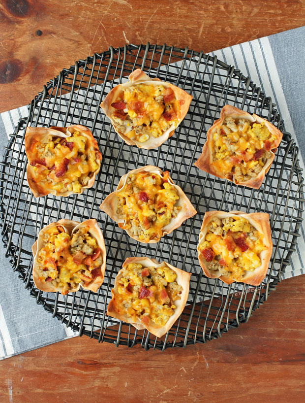 Breakfast Wonton Cups from abover