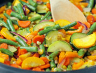 Summer Vegetable Sauté close up