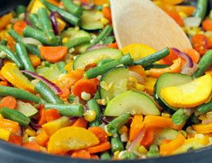 Summer Vegetable Sauté close up
