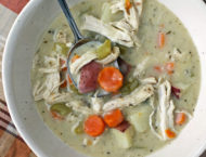 Creamy Chicken Stew in a bowl