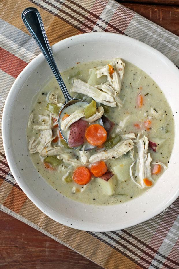 Creamy Chicken Stew in a bowl