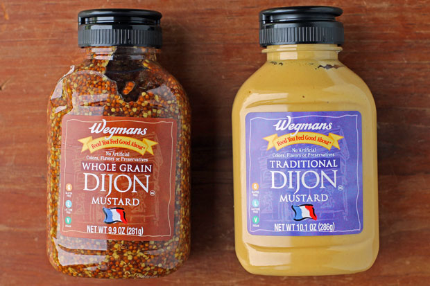 two types of Wegmans Dijon mustard
