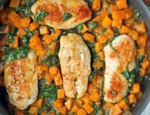 Maple Dijon Chicken and Squash Skillet