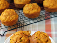 Pumpkin Zucchini Muffins close up