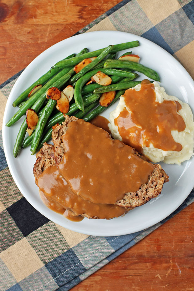 Meatloaf with Gravy and sides from above