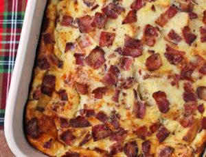 Overnight Breakfast Casserole close up