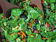Superfood Salad with serving spoons