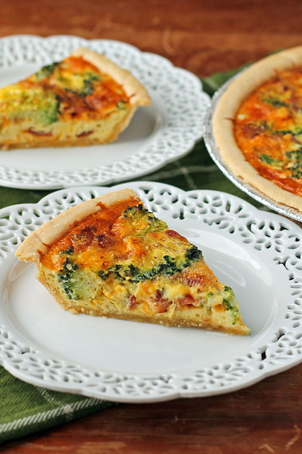 Bacon Broccoli Quiche slices