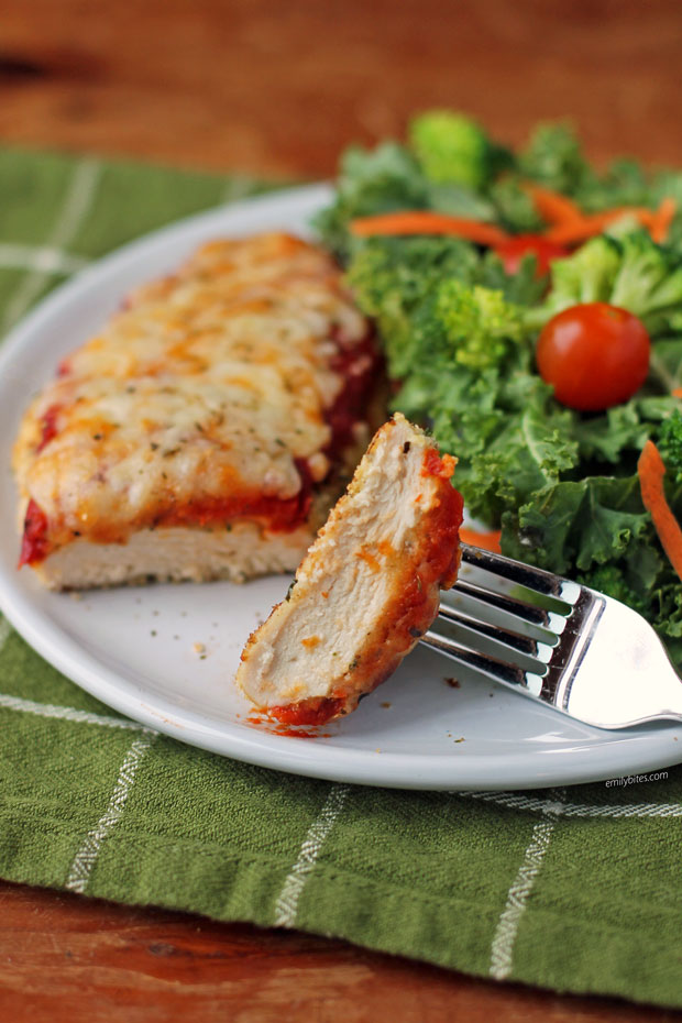 Crispy Chicken Parmesan Emily Bites