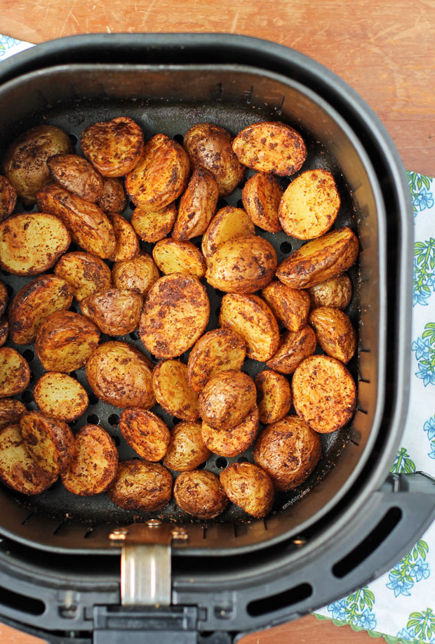Air Fryer Cajun Potatoes in the air fryer