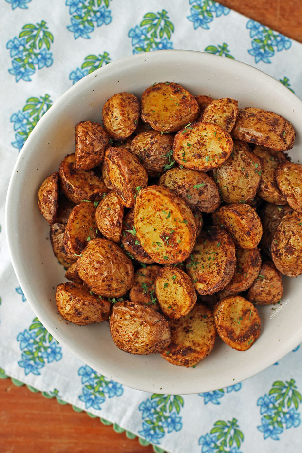 Air Fryer Cajun Potatoes in a serving bowl