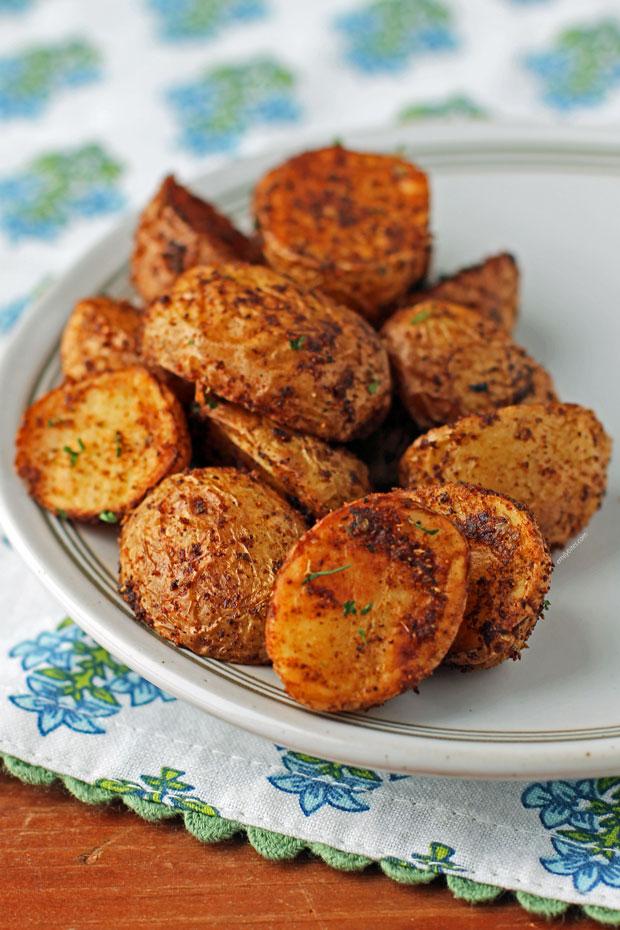 A serving of Air Fryer Cajun Potatoes