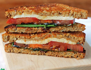 Caprese Sandwich cross-section