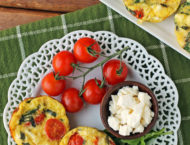 Feta Tomato Mini Frittatas on a plate