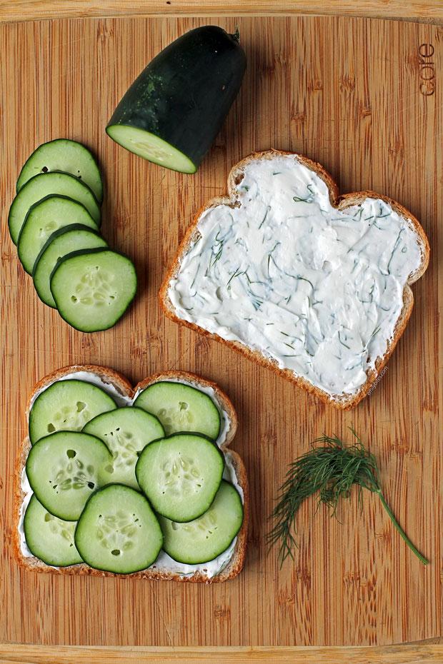 Cucumber Sandwiches ingredients