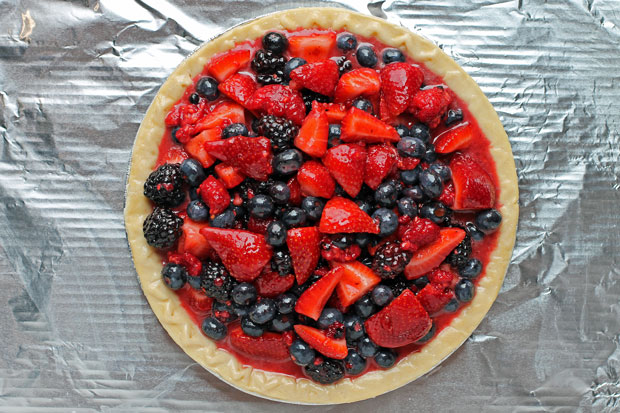 Mixed Berry Pie before baking